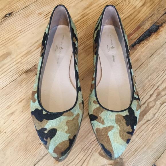 ab367b27ebd3 Mercanti Fiorentini Shoes | Camouflage Pony Hair Flats | Poshmark